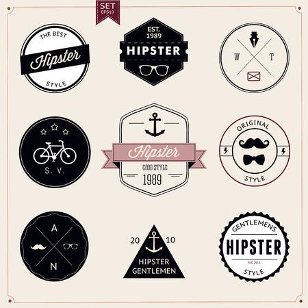 빈티지 스타일 디자인 소식통 아이콘의 집합