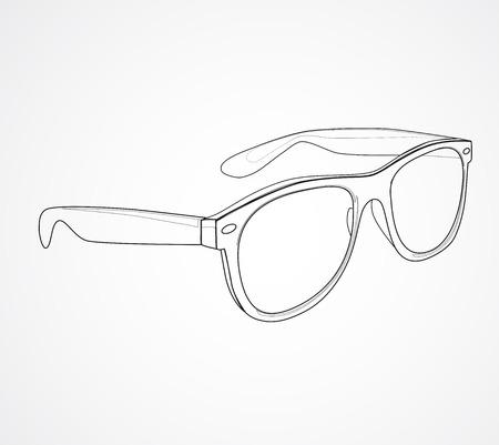 선글라스 격리 된 그림 일러스트