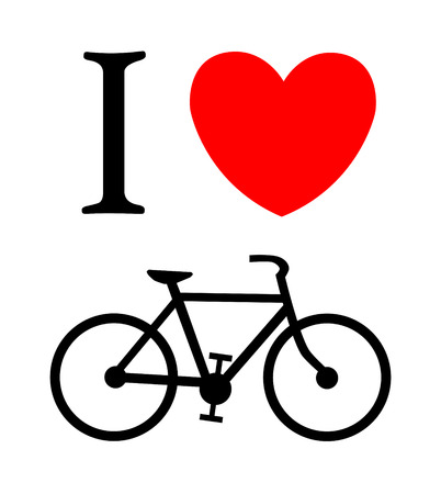 predilection: print I like bicycle Illustration
