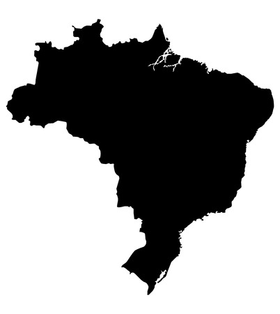 brazil country: map of brazil. High detailed map