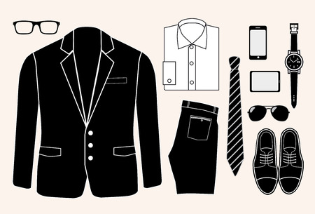 wayfarer: gentleman look. man fashion elements.