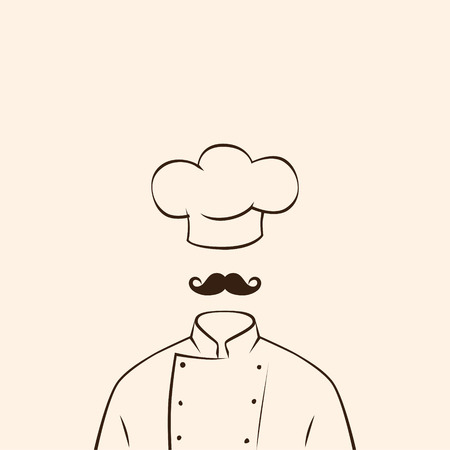 french cuisine: Chef symbol uniform shirt and hat.