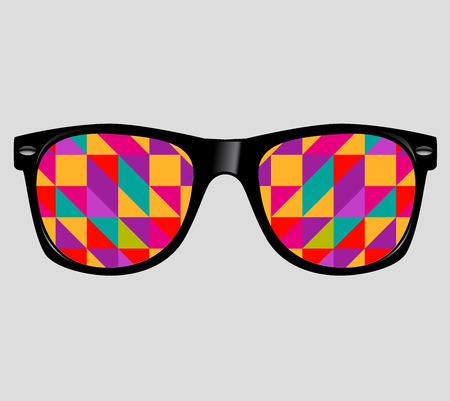 추상적 인 기하학적 삼각형 선글라스