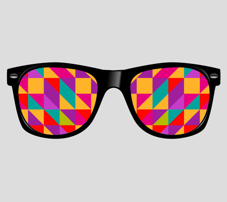sunglasses with abstract geometric triangles