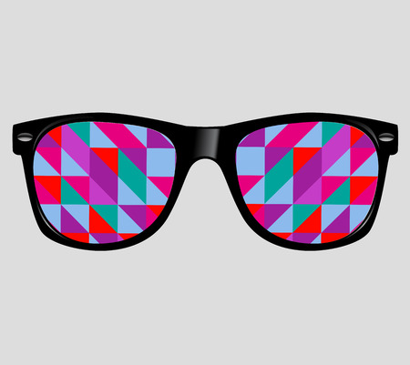 wayfarer: sunglasses with abstract geometric triangles