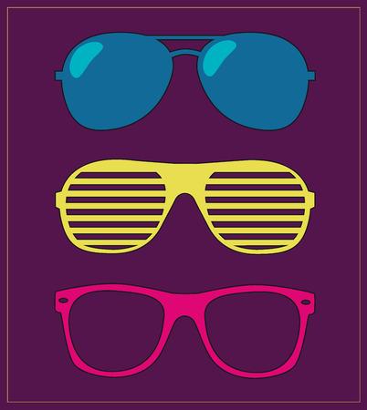 set of sunglasses.  Illustration