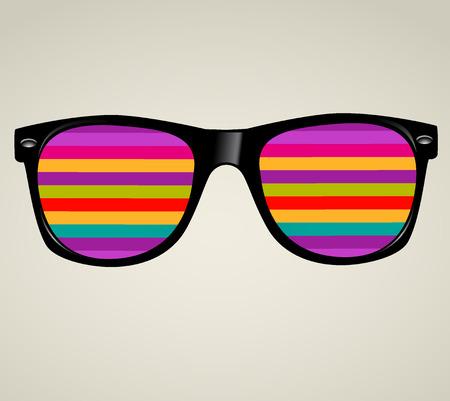 sunglasses abstract illustration background Vettoriali