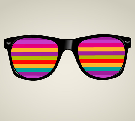 sunglasses reflection: sunglasses abstract illustration background Illustration