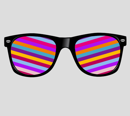 sunglasses with abstract geometric.