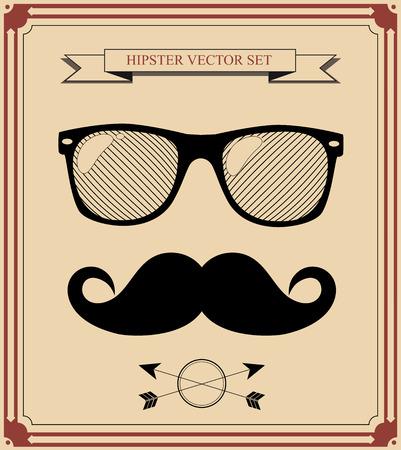 set van Hipster man stijl grafische elementen.