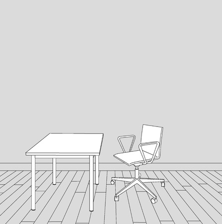 sketch of interior office design illustration Vector