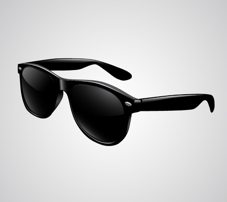 ray ban: Sunglasses isolated illustration