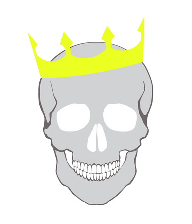 skull with crown. vector background. Vector
