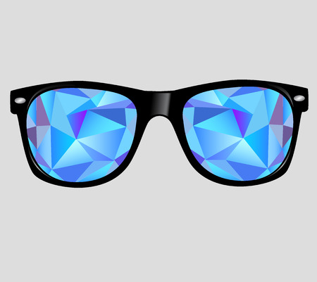 sunglasses with abstract geometric triangles.
