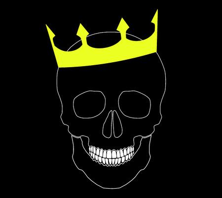 nobleman: teschio con corona. vettore sfondo. Vettoriali