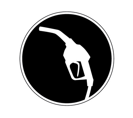 gas pump nozzle icon.  Vector