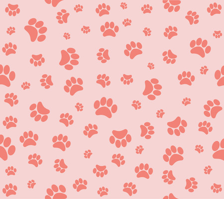 background animal footprints seamless wallpaper Vector