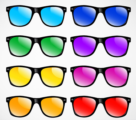 set of sunglasses illustration background