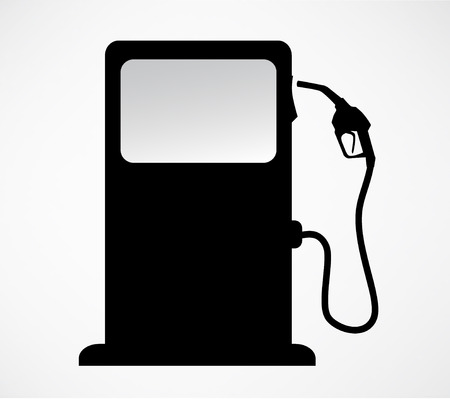 silhouette of gas station pump. isolated background vector  イラスト・ベクター素材