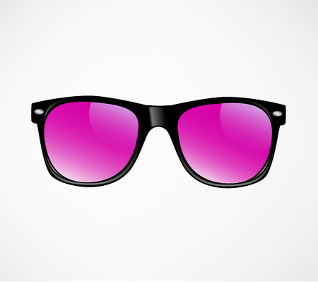 sunglasses reflection: Pink Sunglasses illustration background