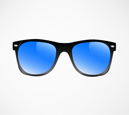 sunglasses reflection: Sunglasses illustration background