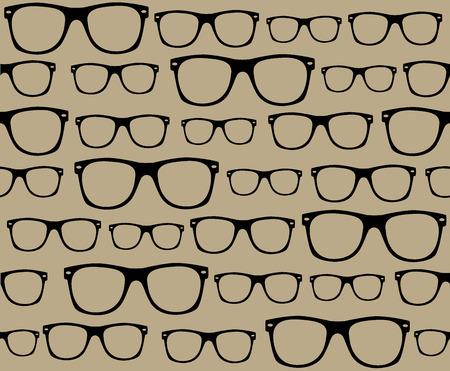 wayfarer: Seamless pattern sunglasses.