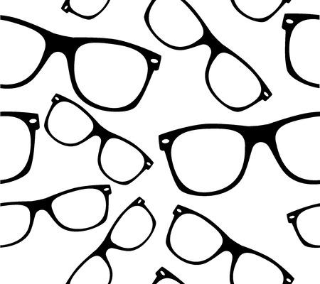 glasses Seamless pattern retro sunglasses.