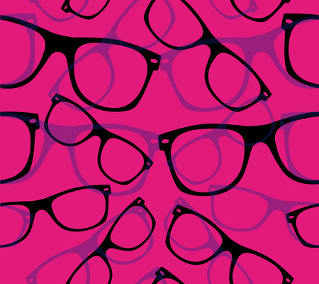 ray ban: glasses Seamless pattern retro sunglasses.  Illustration