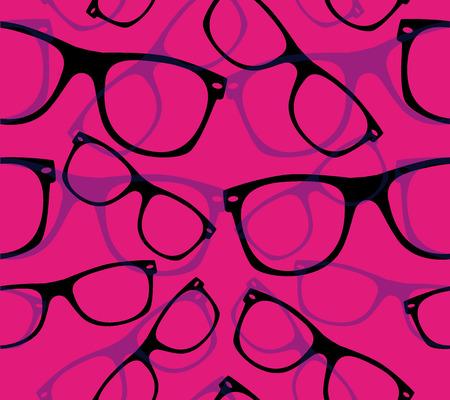 glasses Seamless pattern retro sunglasses.  Illustration