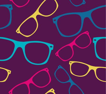 wayfarer: glasses seamless pattern retro sunglasses.
