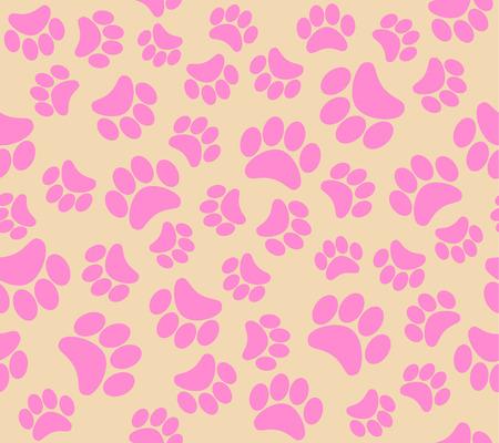 huellas de perro: aislado animal huellas ilustración vectorial