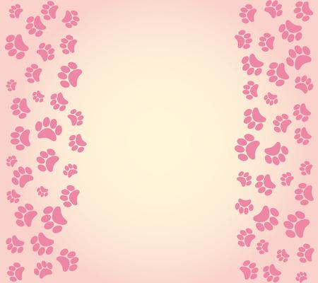 huellas de perro: perro Huellas de fondo. ilustraci�n vectorial