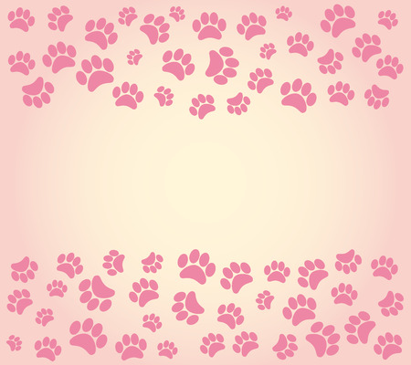 Hond voetafdrukken achtergrond. vector illustratie Stock Illustratie