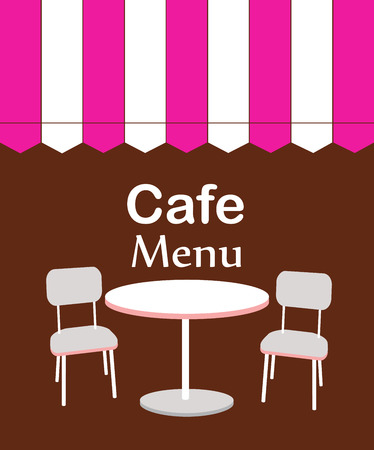 two chairs and table in restaurant. vector illustration Vector