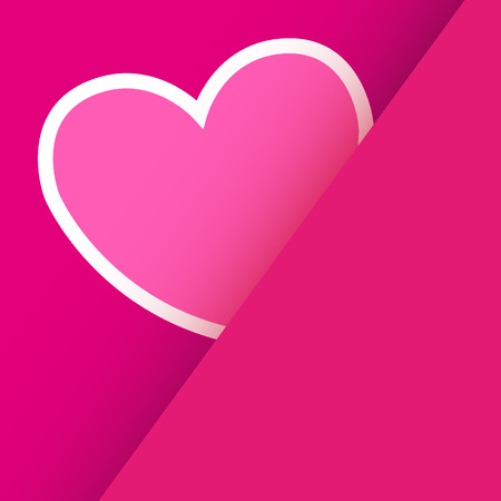 Heart from paper Valentines day card vector background  Illustration