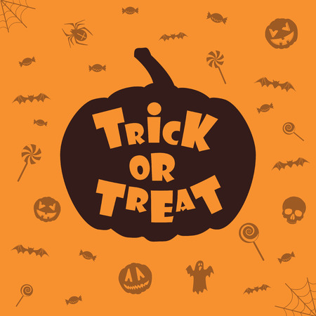 \trick or treat\ halloween background. Vector template for design Vector