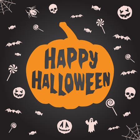 Happy halloween background. Vector template for design. Vector