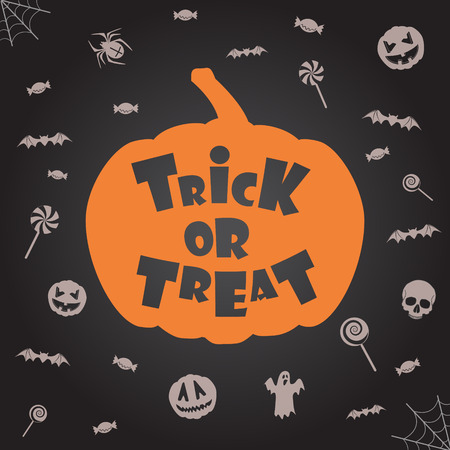 \trick or treat\ halloween background. Vector template for design
