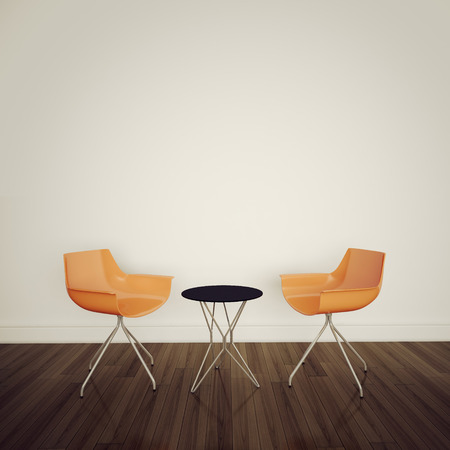 modern interior table and chairs