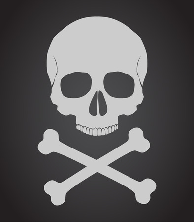 Skull and crossbones vector illustration 免版税图像 - 34866108