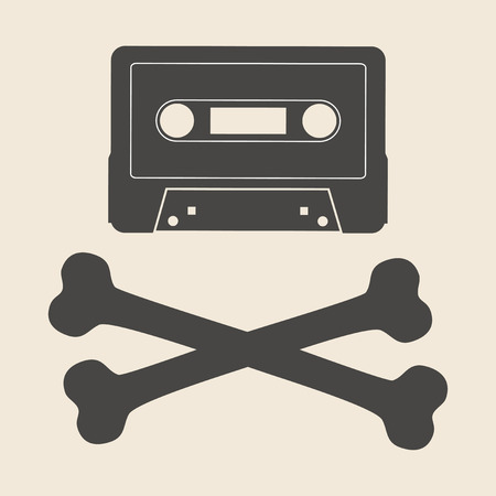 piracy: Online Piracy icon vector illustration