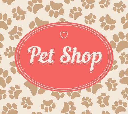 patterns vector: Pet shop logo template