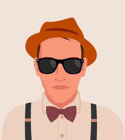 human vector: hipster men illustration Illustration