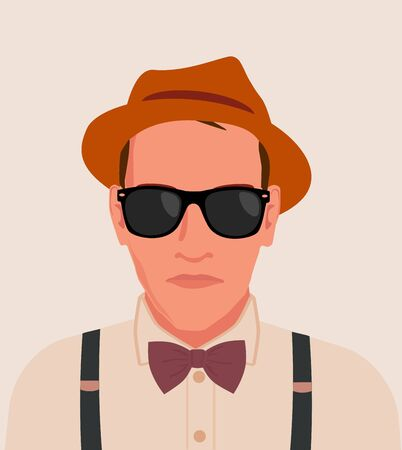 Hipster Men Guy illustration