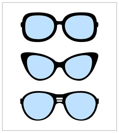 set of sunglasses vector illustration background