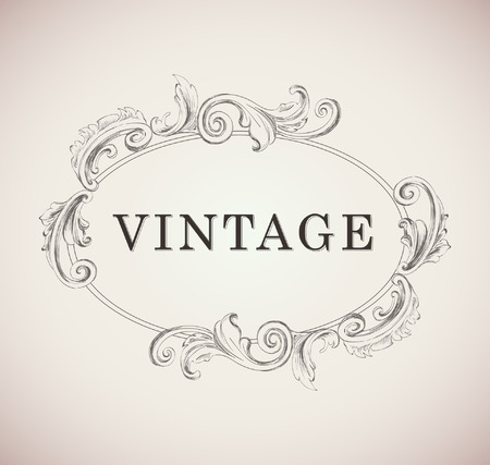 Vintage frame template Illustration Template