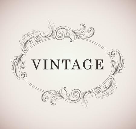 Vintage frame Template template Illustration Vecteurs