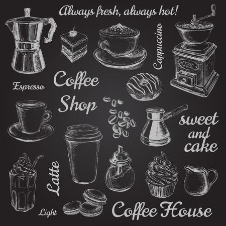 Coffee illustration  イラスト・ベクター素材