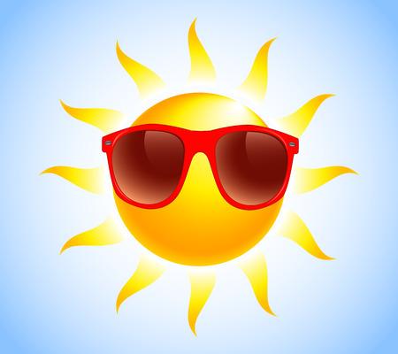 여름 태양 선글라스 일러스트
