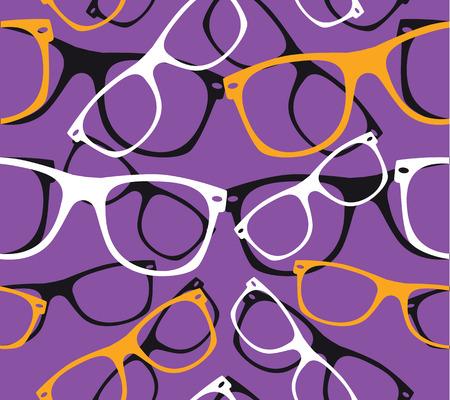 glasses seamless pattern retro hipster sunglasses.
